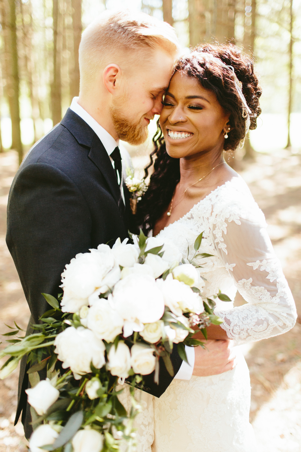 first look photos, interracial wedding photos, interracial wedding photographer, long sleeve lace dress,wedding hairstyles for black women,mixed wedding, interracial wedding, black bride, cultural wedding, brooklyn wedding photographer, brooklyn new york photographer, destination wedding photographer, photojournalistic brooklyn wedding photographer, philadelphia wedding photographer, photojournalistic philadelphia wedding photographer, unique wedding photos, untraditional wedding ideas, backyard wedding ideas, wedding in the forest,forest wedding,outdoor ceremony