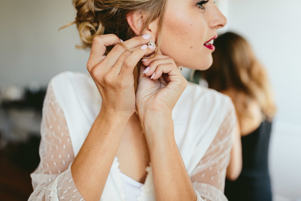Bridal robe, bride robe inspiration, vintage earrings, bride getting ready inspiration, lace wedding robe, vintage wedding robe, Philadelphia wedding, destination wedding, Brooklyn wedding, Brooklyn elopement, Philadelphia elopement, Gadsden house Charleston South Carolina, southern wedding inspiration, unique wedding inspiration, wedding inspiration, destination wedding inspiration, wedding ideas, lace wedding dresses, classy wedding ideas