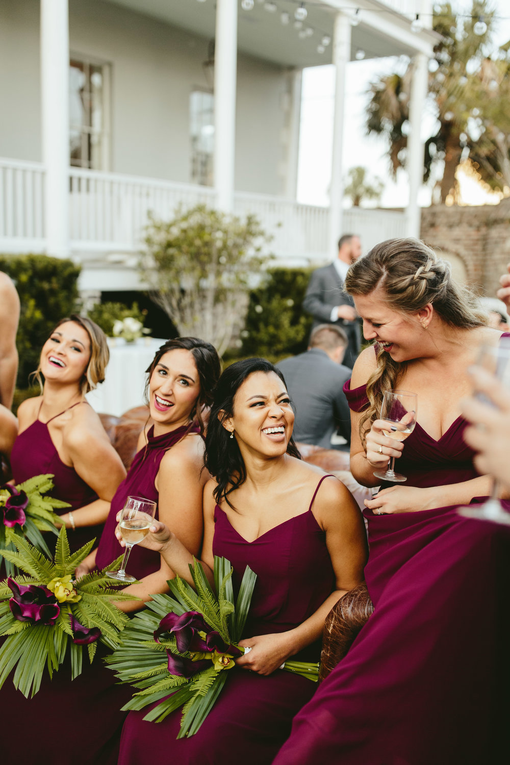 bridesmaid dress, mismatched bridal gowns, courtyard wedding reception, unique bridesmaid dress, blush bridesmaid dress, maroon bridesmaid dress, unique wedding florals, trumpet tulip bouquet, tropical wedding bouquet, unique reception, unique reception rentals, courtyard wedding reception, unique backyard wedding reception, string lights wedding,courtyard wedding ceremony, backyard wedding ceremony, wedding ceremony inspiration, unique ceremony location, groomsmen, bridal party photo inspiration, black tie bridal party, black tie groom, groomsmen in tux, groomsmen style ideas, Philadelphia wedding, destination wedding, Brooklyn wedding, Brooklyn elopement, Philadelphia elopement, Gadsden house Charleston South Carolina, southern wedding inspiration, unique wedding inspiration, wedding inspiration, destination wedding inspiration, wedding ideas, romantic wedding inspiration, classy wedding ideas