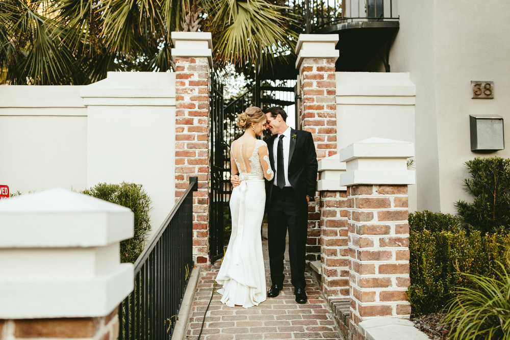 black tie wedding, romantic couple photos, lace wedding dress, lace backed wedding dress, vintage wedding inspiration, southern bride, Philadelphia wedding, destination wedding, Brooklyn wedding, Brooklyn elopement, Philadelphia elopement, Gadsden house Charleston South Carolina, southern wedding inspiration, unique wedding inspiration, wedding inspiration, destination wedding inspiration, wedding ideas, romantic wedding inspiration, classy wedding ideas