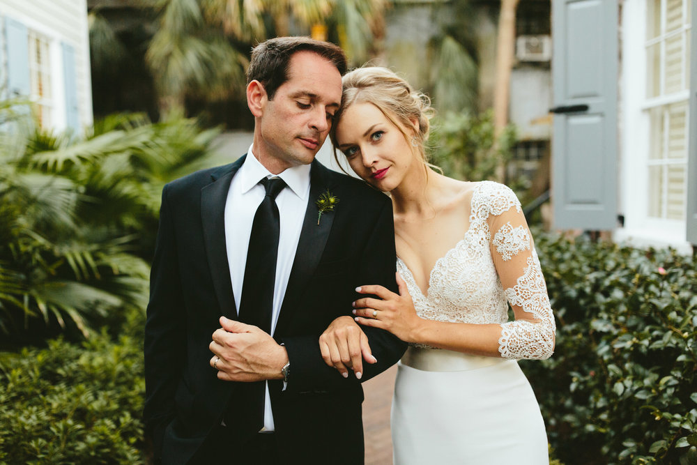 black tie wedding, red lip bride, romantic couple photos, lace wedding dress, lace backed wedding dress, vintage wedding inspiration, southern bride, Philadelphia wedding, destination wedding, Brooklyn wedding, Brooklyn elopement, Philadelphia elopement, Gadsden house Charleston South Carolina, southern wedding inspiration, unique wedding inspiration, wedding inspiration, destination wedding inspiration, wedding ideas, romantic wedding inspiration, classy wedding ideas