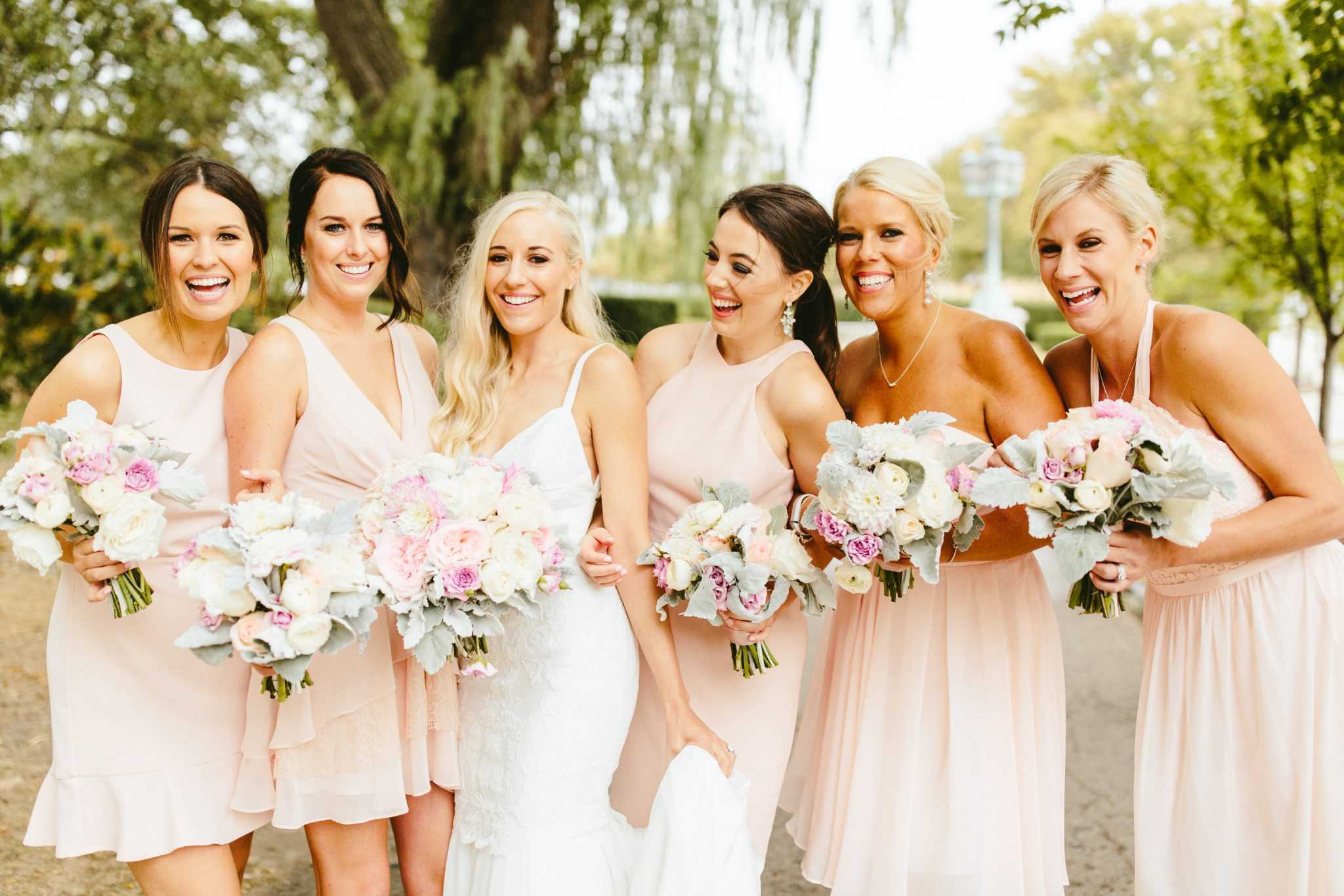 blush bridesmaid dresses, knee length bridesmaids dresses, pastel wedding colors, pastel wedding theme, pastel bouquet, blush wedding flowers, unique bridal party photos, Brooklyn wedding photography, Brooklyn wedding, Philadelphia wedding photographer, Philadelphia wedding, Brooklyn new york photographer, unique wedding inspiration, fun wedding photos, romantic wedding, destination wedding photographer